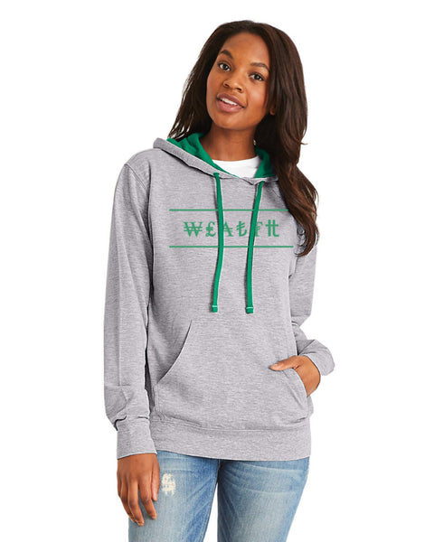 Pullover Hoody (Hthr Gry / Kl Grn) - Wealth
