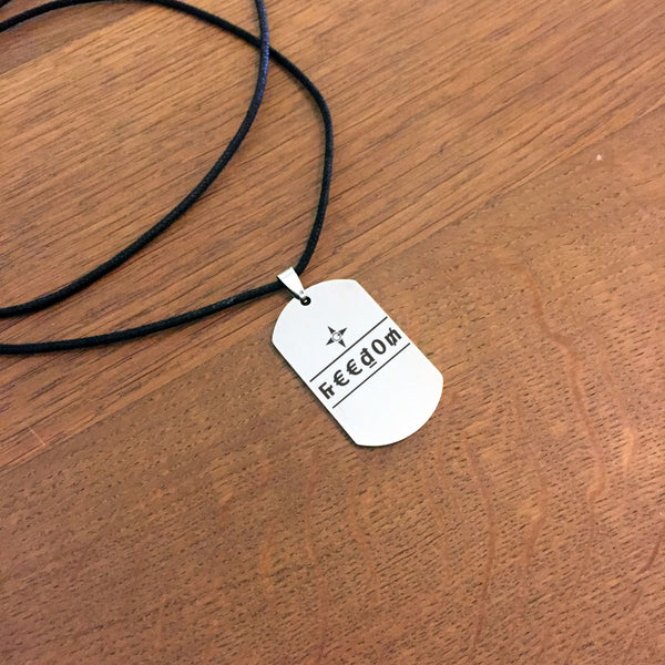 Freedom Dog Tag Necklace