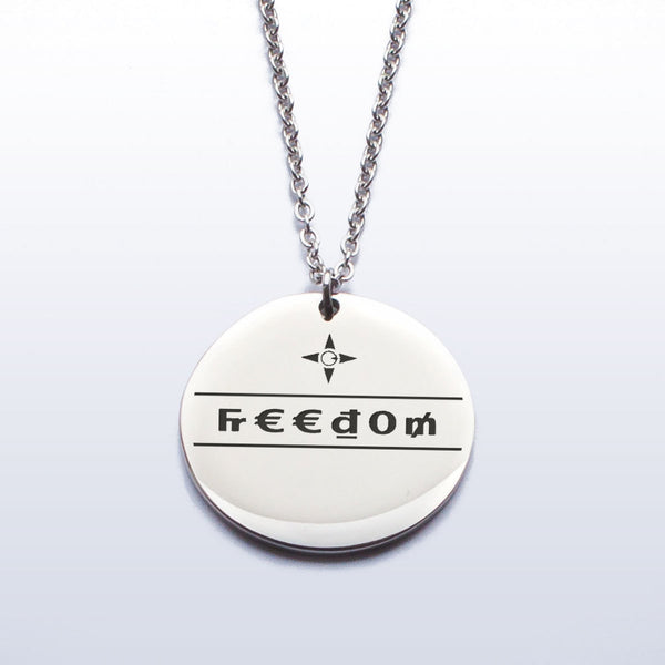 Freedom Pendant (Etched)