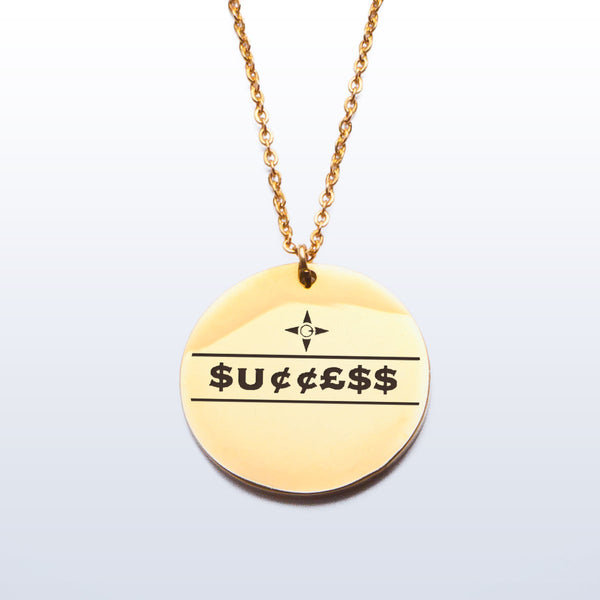 Success Pendant (Etched)