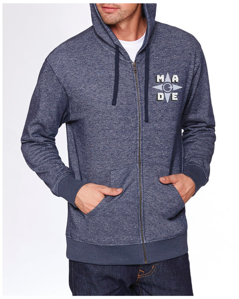 Denim Fleece Full-Zip Hoody
