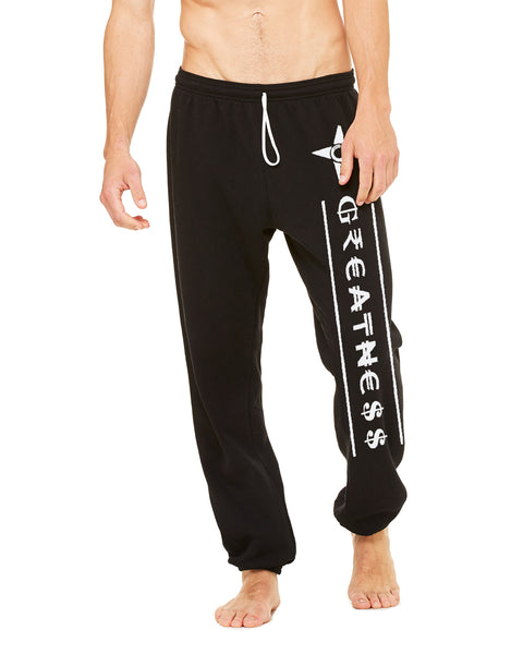 Man wearing Greatness Sponge Fleece Sweat Pants by Made Inc