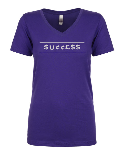 Ladies V-Neck Tee - Success