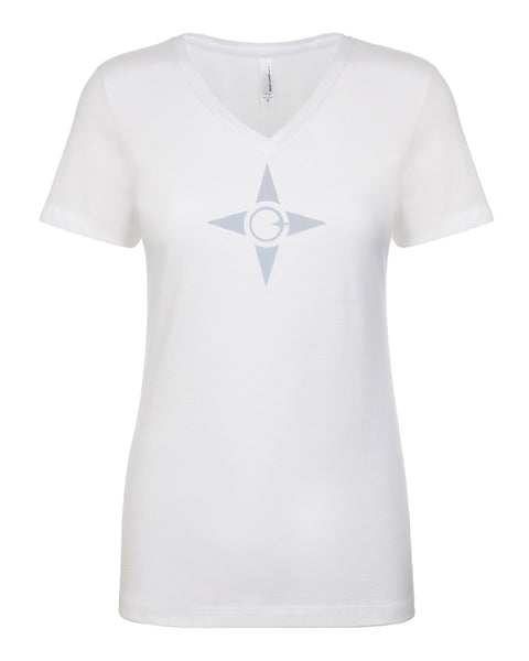 Ladies V-Neck Tee - Made Logo