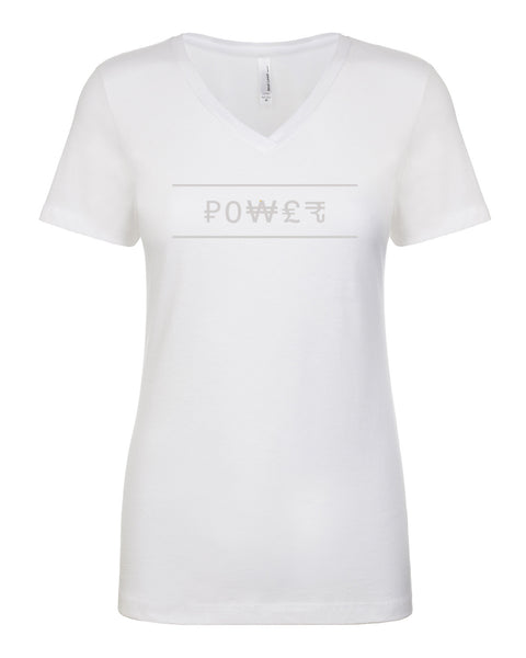 Ladies V-Neck Tee - Power