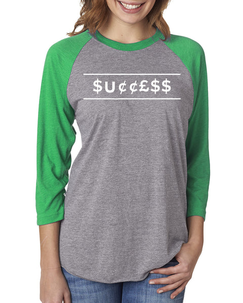 MADE INC - Sport Triblend 3/4-Sleeve Raglan- Success