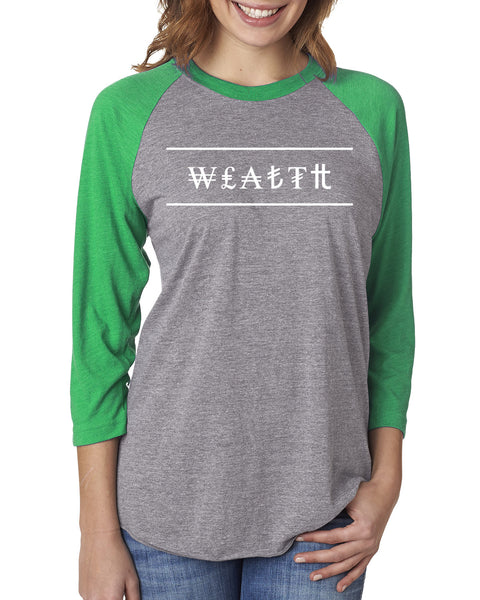 MADE INC - Sport Triblend 3/4-Sleeve Raglan- Wealth