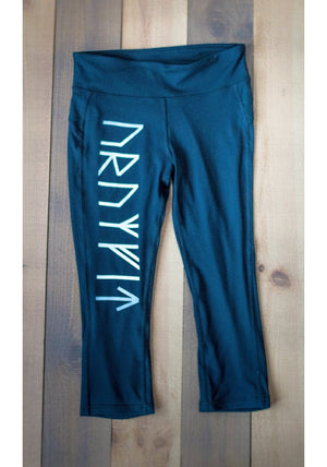Elder Futhark Runes, Capri Leggings, Ladies