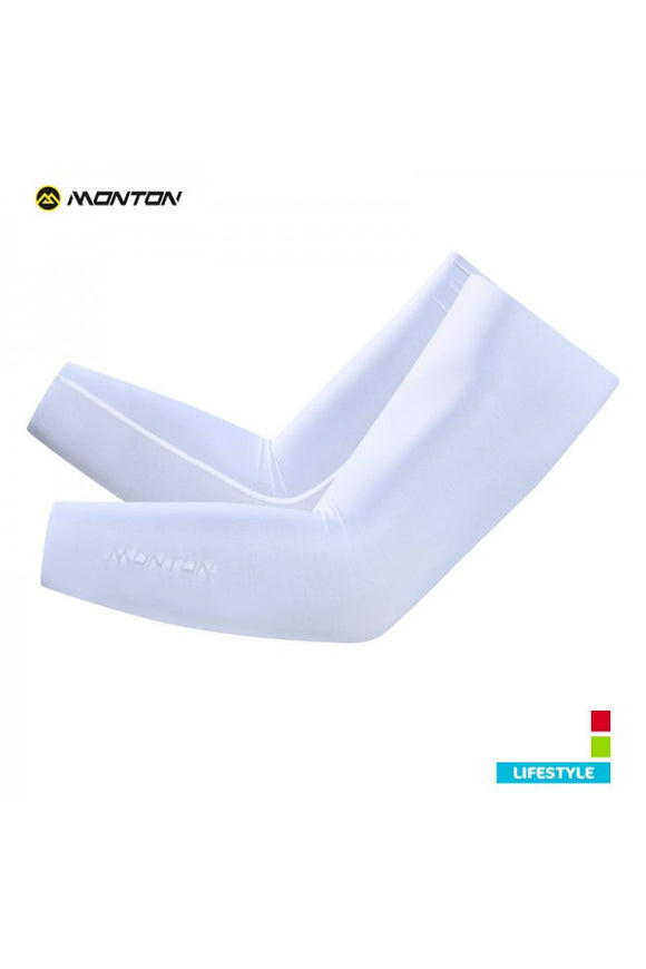 Monton Sun Protection Bike Sleeves Lifestyle Ice Silk White