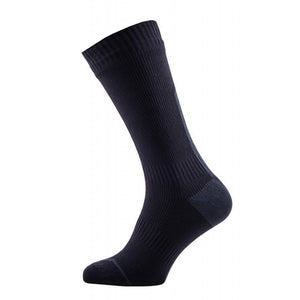 SealSkinz Men's Thin Mid Road Socks Black Illuminous