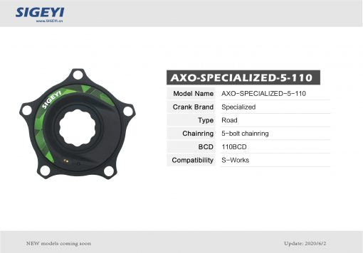 Sigeyi AXO Power Meter for Specialized