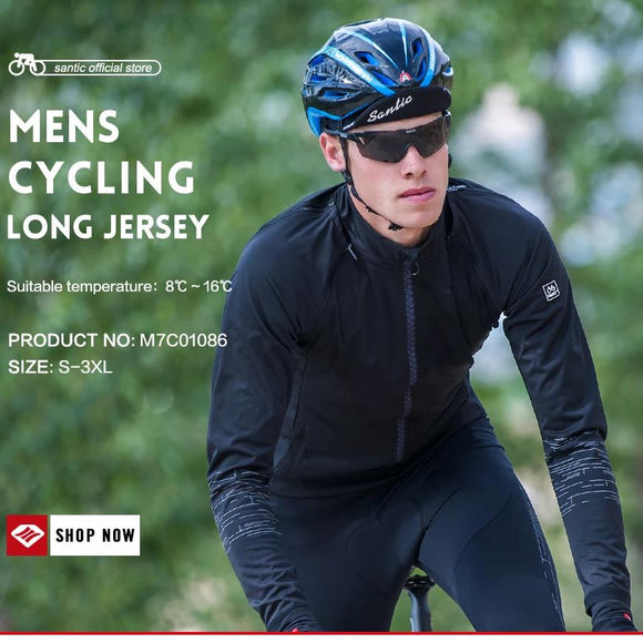 Santic Prism Cycling Jacket Long Sleeve - Removable Sleeves - Trevs Cycle Shop