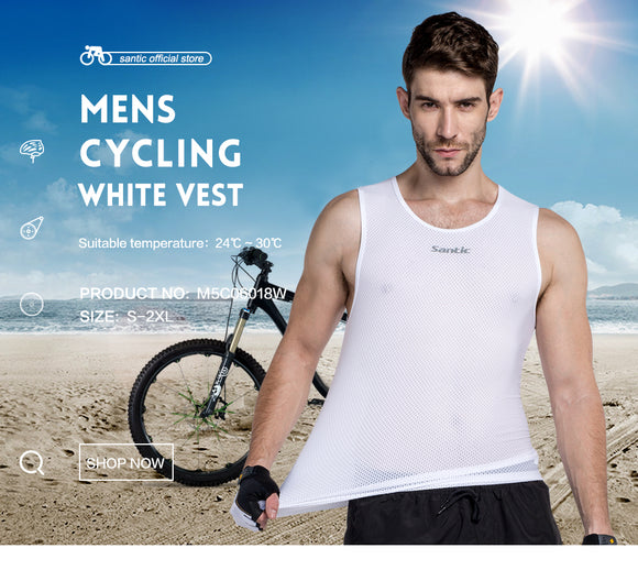 Santic Mesh Sleeveless Base Layer - Trevs Cycle Shop