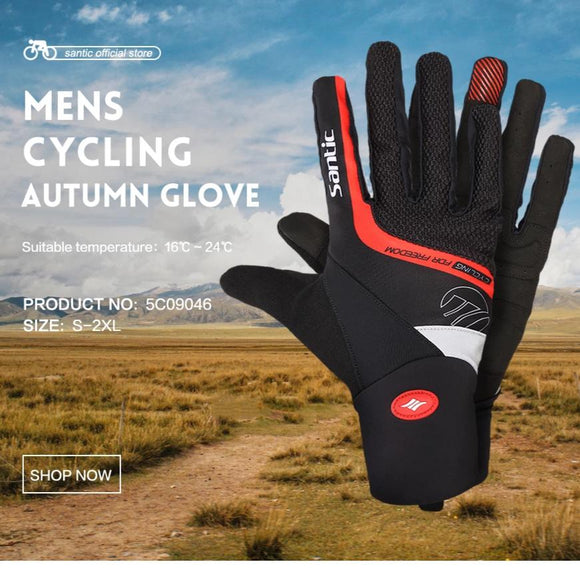 Santic Cycling Gloves Full Finger - Trevs Cycle Shop