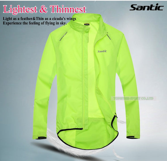 Santic Men Cycling Jacket UPF30+ Rain Jacket - Trevs Cycle Shop