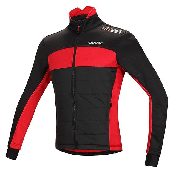 Santic Men's Cycling Thermal Long Jersey Windproof Winter Jacket - Trevs Cycle Shop