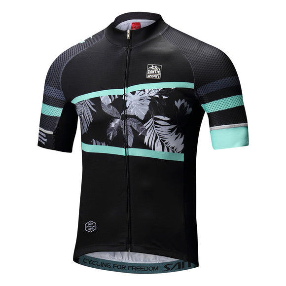 Santic Men Cycling Jersey Summer – Rainforest Blue - Trevs Cycle Shop
