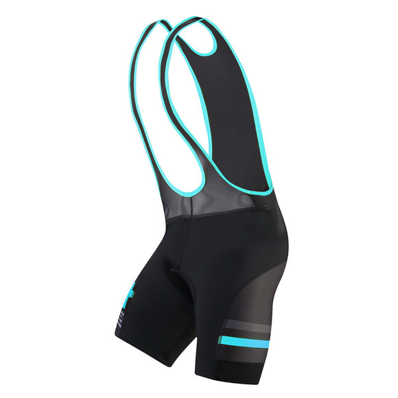 Santic Bib Cycling Bib Shorts 4D Padded - Rainforest Blue or Orange - Trevs Cycle Shop