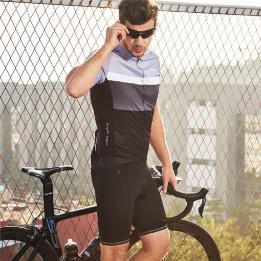 Santic Arthur Gray Men Cycling Jersey Short Sleeve - Trevs Cycle Shop