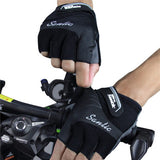 Santic Java Ⅱ Cycling Gloves Half Finger – Black