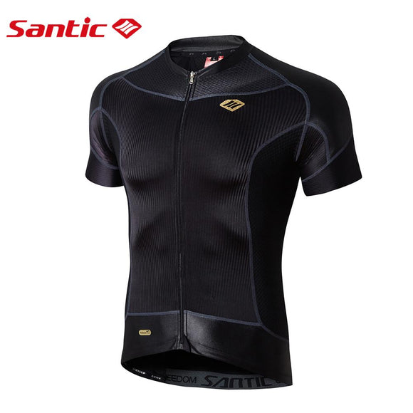Santic Carbon Mens Short Sleeve Cycling Jersey - Trevs Cycle Shop