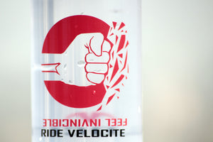 Velocite water bottle - Fist logo - Trevs Cycle Shop