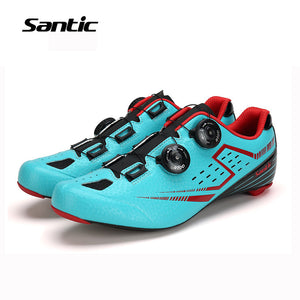 Santic Burton Cycling Shoes - Ultralight Carbon Fibre Sole - Trevs Cycle Shop