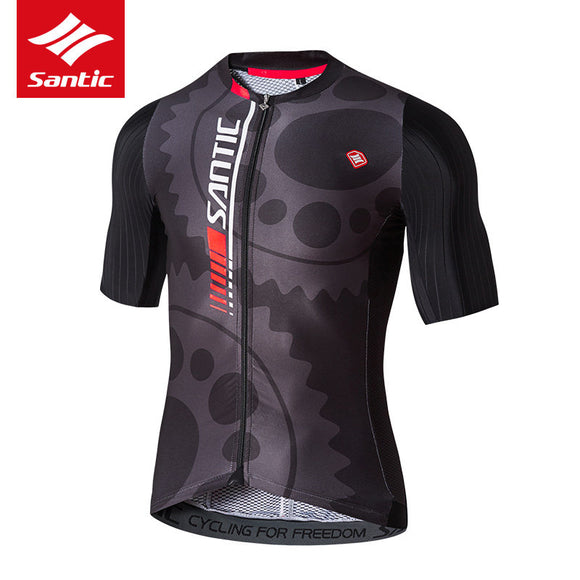 Santic Alloy Mens Short Sleeve Cycling Jersey\Top - Trevs Cycle Shop