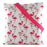 Flamingo Blush Canvas Tote Bags