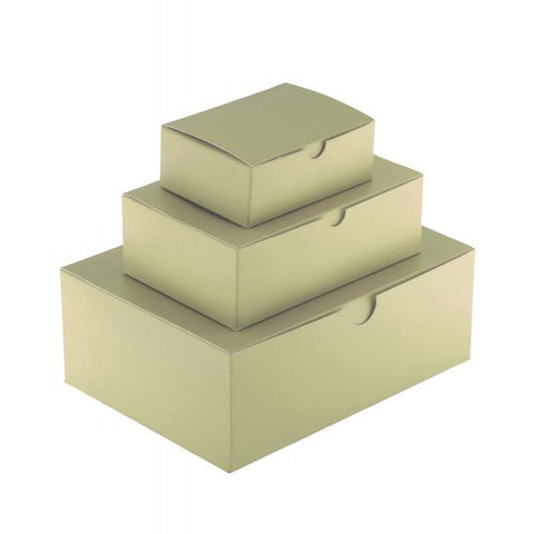 Ivory Rectangle Gloss Laminated Gift Boxes - 1 Piece