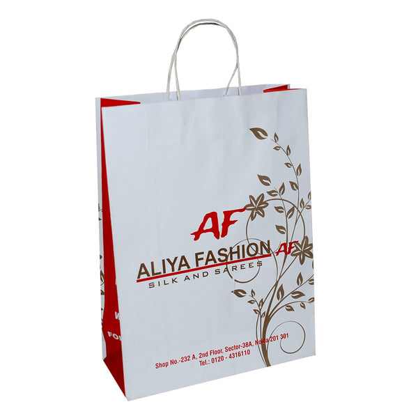 White Paper without Laminated Custom Printed Garment and Shoes Bags
