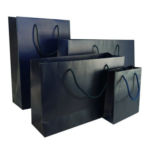 Royal Blue Matt Laminated Carrier Bag with Rope Handle