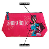 Shopaholic Cosmetic Bag