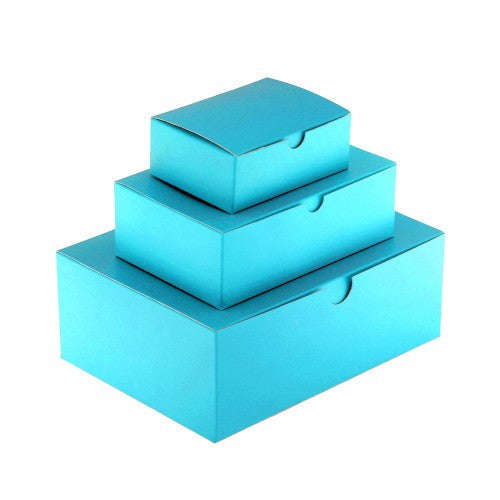 Turquoise Blue Rectangle Matt Laminated Gift Boxes - 1 Piece