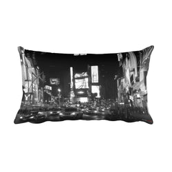 NYC Times Square Rectangular Pillow