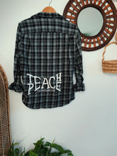 Load image into Gallery viewer, Teach Peace Flannel - VintageChameleon