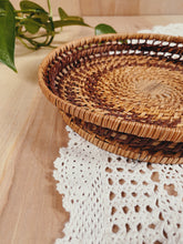 Load image into Gallery viewer, Woven Basket Tray - VintageChameleon
