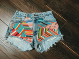 Striped Bohemian Shorts