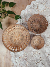Load image into Gallery viewer, Wicker Basket Trio - VintageChameleon