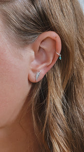 Dainty Feather Studs