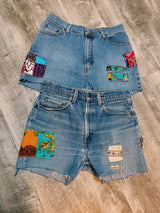 Colorful Patchwork Shorts - VintageChameleon