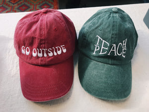 Teach Peace Baseball Hat - VintageChameleon