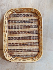 Large Wicker Tray - VintageChameleon