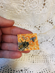 Bee and Honeycomb Studs