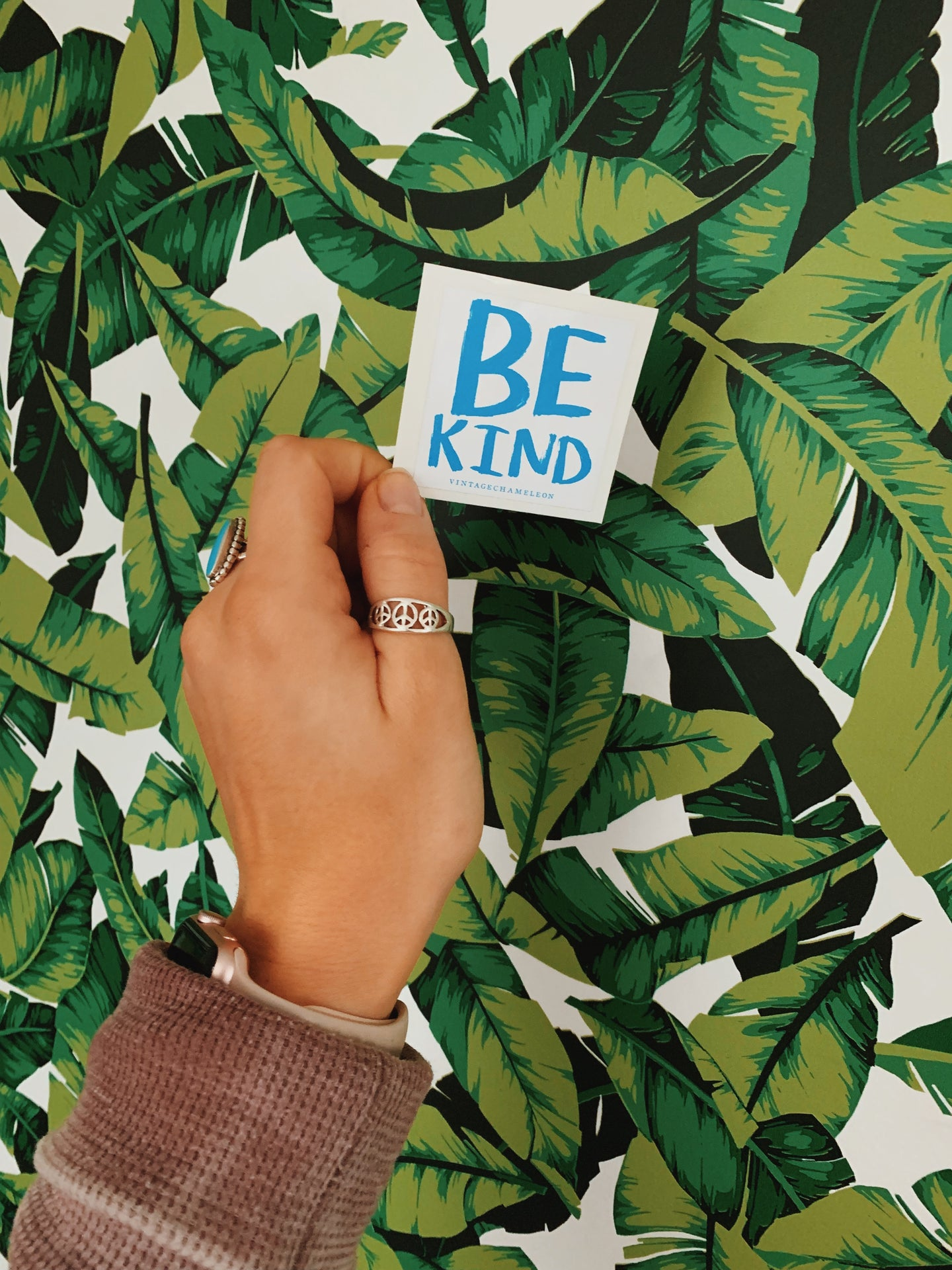 Be Kind Waterproof Sticker - VintageChameleon