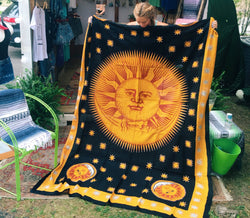 Sun and Moon Tapestry - VintageChameleon