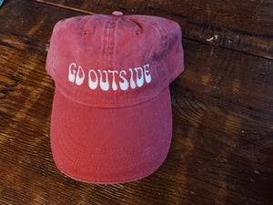 Go Outside Baseball Hat - VintageChameleon