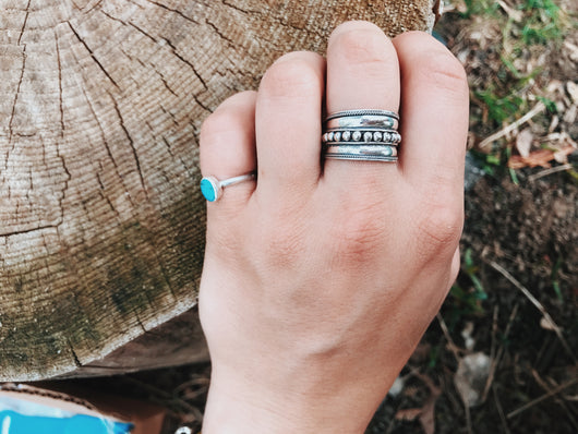 Thick Band Boho Bali Ring