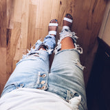Shredded Boyfriend Jeans