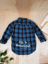 Load image into Gallery viewer, Life is Beautiful Flannel - VintageChameleon